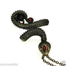 Vintage Snake  Red Top Pendant  Necklace