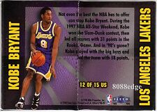 1998-99 FLEER ULTRA UNSTOPPABLE #12: KOBE BRYANT - LOS ANGELES LAKERS 1:36 PACKS
