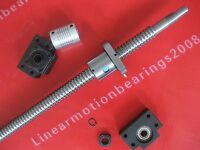 1 lead screw ballscrew RM2005-2600mm-C7 + BK/BF15 + coupling Free shipping