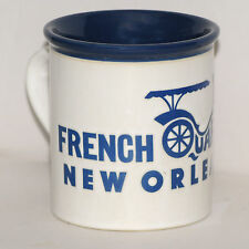 New Orleans French Quarter Coffee Mug Cup Blue White Ceramic Man Carriage
