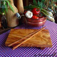 Sushi Sushibrett Brett Olivenholz Holz Schneidebrett Servierbrett + 1x Stick