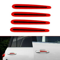4pcs Night Chrome Corner Guard Car Door Handle Carbon Fiber Sticker Warning Film