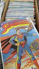 adventures of Superman Comic Lot of 118 mostly NM 424-649 annual bagged