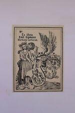 ✒ EX LIBRIS Emil Sipmann d'après Albrech Dürer - armorié