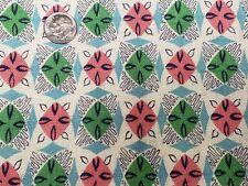 BEST Vintage Feedsack Quilt Fabric 40s Geometric Pink Aqua Flour Full Sack