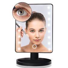 10X/ loupe Touch 16 Lumière DEL Illuminé Make up Cosmétique Rasage Vanity miroir