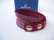 Swarovski Slake Rot Bordeaux Türkis Gold Bracelet Bracciale