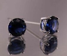 Stud Sapphire White Gold Filled Fashion Earrings