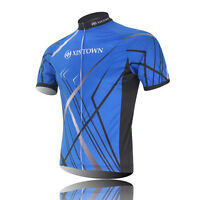 XINTOWN Sports Blue Cycling Jersey Bike Breathable T-shirt Clothing Bicycle Wear