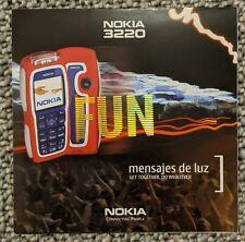 Nokia 3220 Gatefold Brochure rare 2004 club nokia brand new rare