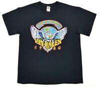 Van Halen Tour Of The World 1984 Retro Tee Black Size M Adult T Shirt Rock Vtg