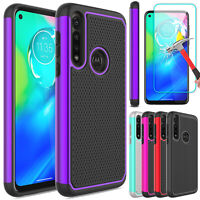 For Motorola Moto G Power 2020 Case Armor Rugged Cover / Glass Screen Protector