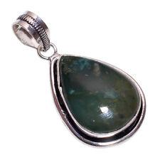 argento sterling rivestimento ARTIGIANALE Ematite Ciondolo nlg-304 Placcato