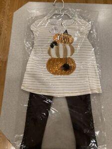 mud pie 12-18 months girls pumpkin tunic leggings Halloween