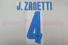 Inter Milan 2007/2008 #4 J. ZANETTI Away Nameset Printing
