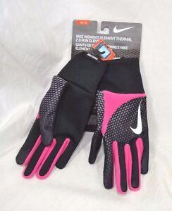 Nike Women's Element 2.0 Run Gloves Pink & Black XS Small or Medium NEW