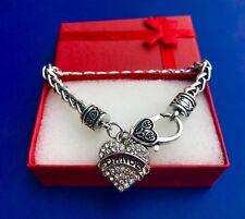 Dance Rhinestone Heart Bling Bracelet Sports Jewelry Crystal