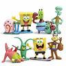 8pcs Set SpongeBob Squarepants Patrick Star Squidward Tentacles PVC Figure Toys