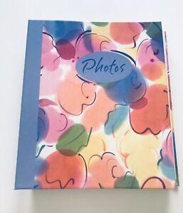 Hallmark Photo Album Refillable Book 3 Ring Binder 10 x 11.5 Pink Blue Orange