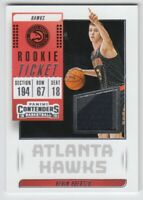 2018-19 Panini Contenders Rookie Ticket Swatches #20 Kevin Huerter