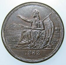 1863 Civil War Token~Fuld 258/446a 24.5mm Trade and Commerce, Scarce