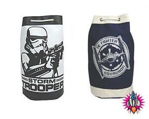 OFFICIAL STAR WARS RETRO DUFFLE GYM BAG STORMTROOPER TIE FIGHTER NEW WITH TAGS