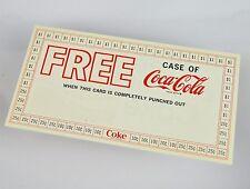 Beau Coca-Cola Coupon USA Années 1970 - Gratuit Boîtier de Coke