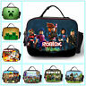 Roblox Boys Man's School Insulated Lunch Bag Kid's Food Hand Bag Personalised