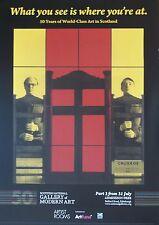 Gilbert y George exposición, lo que ves, cartel Exposición de Gilbert & George