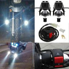 2x 125W CREE U5 LED Driving Headlight Fog Lamp Spot Light +Switch For Motobike