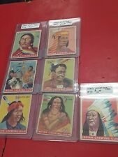 1930's Indian Gum Indian Chiefs Card Lot