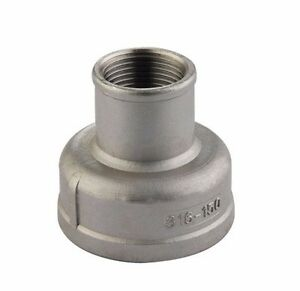 """Stainless Steel 316 Fitting Reducing Coupling Class 150 2-1/2"""" X 2"""" NPT"""