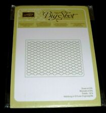 New listing Stampin' Up Fancy Fan Textured Impressions Embossing Folder ~ Scalloped Pattern