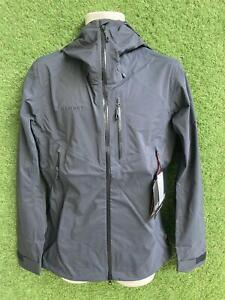 Mammut Men's Kento Hard Shell Hooded Jacket Black S. RRP £190