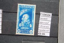 FRANCOBOLLI ITALIA REGNO NUOVI* 1,25L. SALONE AERONAUTICO LINGUELLATI (F104524)