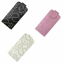 For Apple iPhone 5/5S/SE Diamond Bling Jewelled PU Leather Flip Case Cover