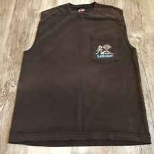 Harley Davidson Sleeveless T-Shirt Live Fast McDaniel's HD South Bend, IN Size M