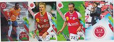 PANINI FOOTBALL 2014 2015 ADRENALYN CARDS LOT DE 4 CARDS GAME STADE DE REIMS