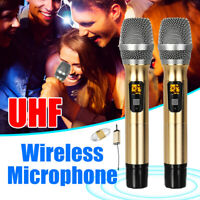 Handheld Wireless Microphone System UHF 2 Mics with Mini For Karaoke   1   9
