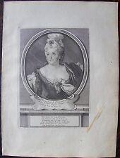 MARIE ANNE DE CHATEAUNEUF DITE Mle DU CLOS... A Paris , Desrochers. Portrait. Gr