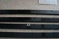 """CNC Stepper motor mech Rack & Gear 96"""" Rack (4x24"""" pcs) & a 15T 1/4"""" pinion gear"""