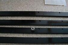 """CNC Stepper motor mech Rack & Gear 96"""" Rack (4 pc) & a 15T 1/4"""" pinion gear"""