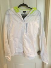 NIKE 362782 Women's Hooded Vapor  Running Jacket Medium 8 10 White Green New
