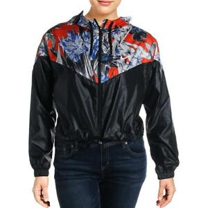 Nike Womens Windrunner Black Floral Loose Fit Athletic Jacket Plus 2X  1797