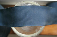 "2 yards 2 1/4"" wide vintage grosgrain Midnight Navy Blue ribbon hat band dress"