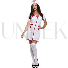 Adult Sexy Naughty Nurse Fancy Dress Costume Hen Party Halloween Uniform Outfit