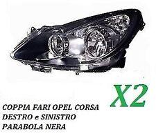 COPPIA FARI FANALE PROIETTORE ANT SX-DX OPEL CORSA D DA 2006 IN POI H7-H1 PRED.