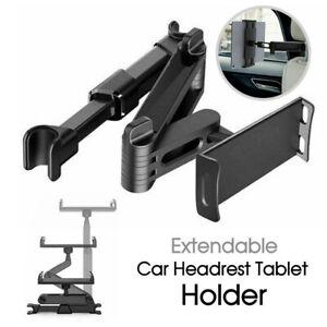 Extendable Car Back Seat Headrest Long Mount Universal Holder iPad Tablet Rotate
