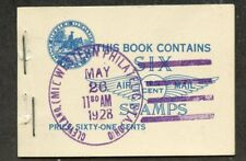 United States-Partial Booklet Scott #C10a with 1st Day Cancel
