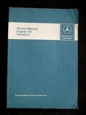 "MERCEDES-BENZ "" Engine 110 "" 1970's-80's  genuine REPAIR / SERVICE MANUAL Vol. 2"
